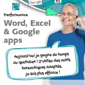 Accéder à la formation sur Word Excel Google Apps
