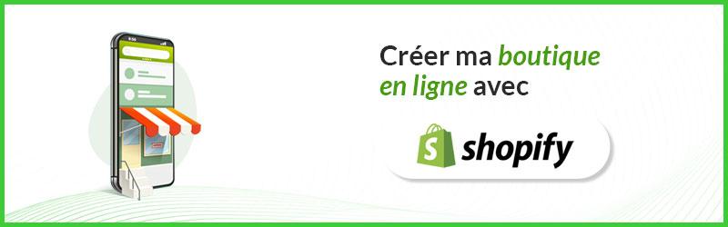 Créer sa boutique Shopify